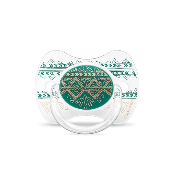 Πιπίλα Σιλικόνης Φυσιολογική 4-18Μ Suavinex H.Couture Green