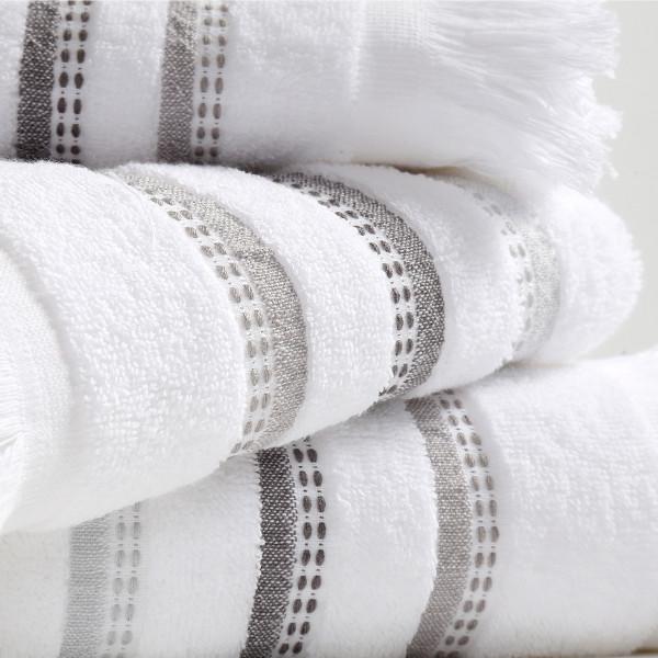 Πετσέτες Μπάνιου (Σετ 3τμχ) Nef-Nef Limit White
