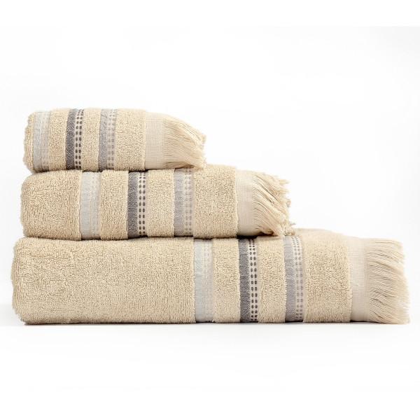 Πετσέτες Μπάνιου (Σετ 3τμχ) Nef-Nef Limit Beige