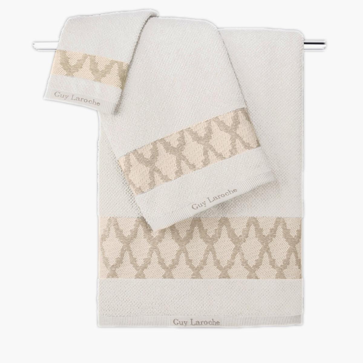 Πετσέτες Μπάνιου (Σετ 3τμχ) Guy Laroche Carlin Cream