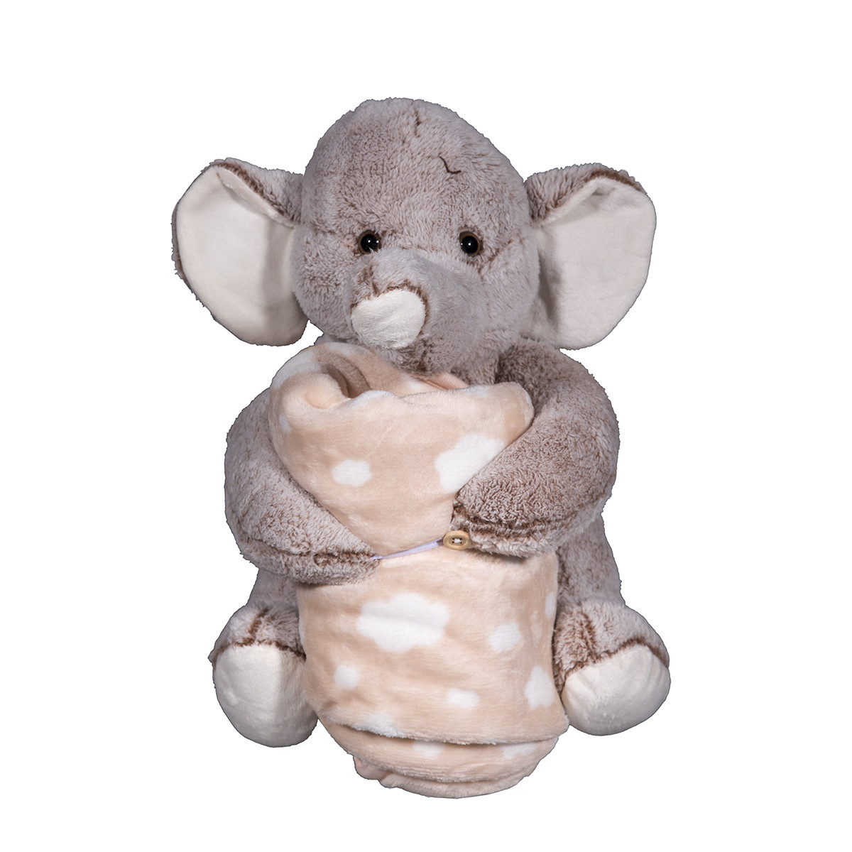 Κουβέρτα Fleece Αγκαλιάς Silk Fashion Elephant Brown