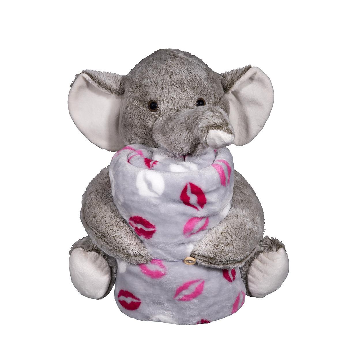 Κουβέρτα Fleece Αγκαλιάς Silk Fashion Elephant Grey