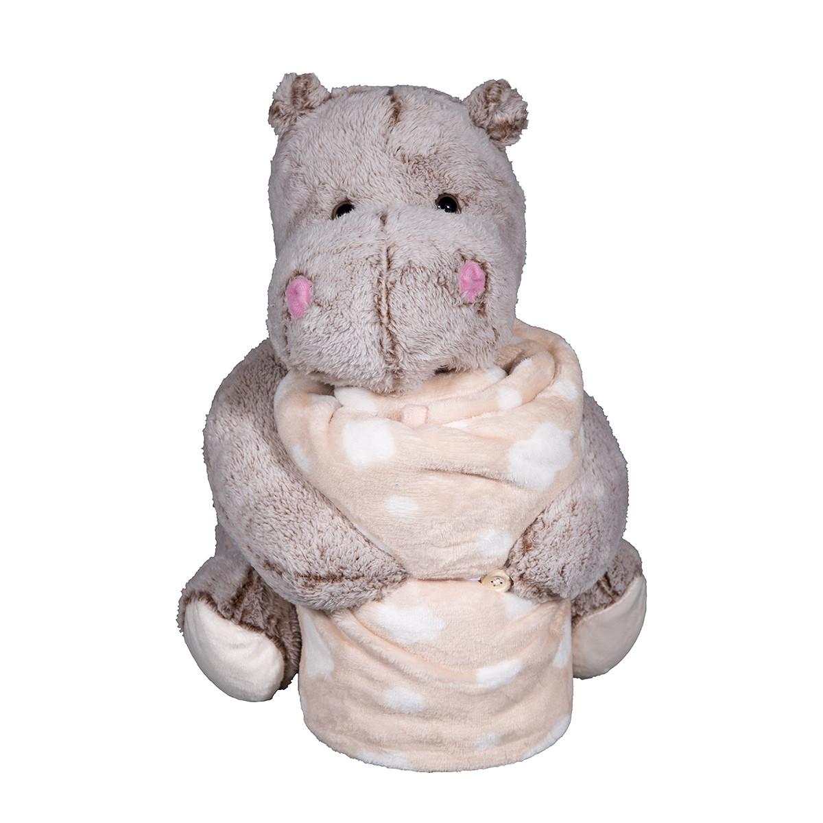 Κουβέρτα Fleece Αγκαλιάς Silk Fashion Hippo