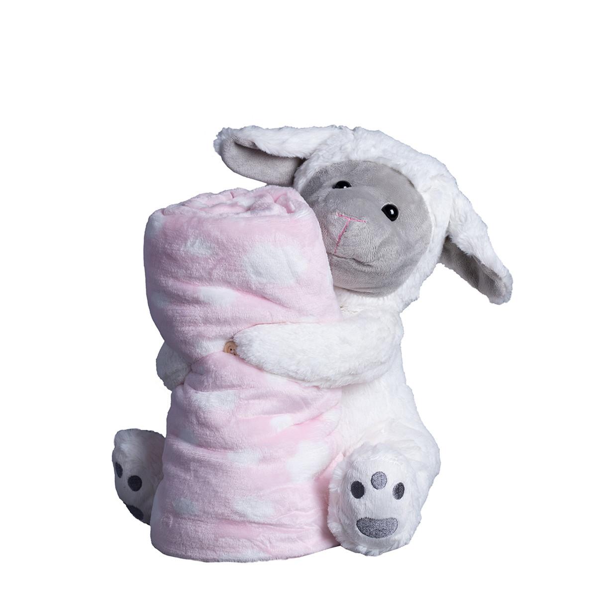 Κουβέρτα Fleece Αγκαλιάς Silk Fashion Sheep Pink