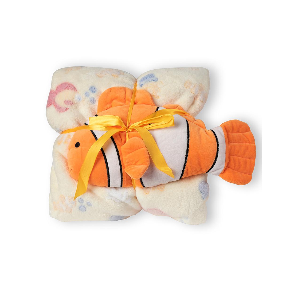 Κουβέρτα Fleece Κούνιας Silk Fashion ClownFish