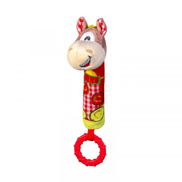 Μαλακό Παιχνίδι Με Ήχο +  Μασητικό BabyOno Αλογάκι BN1355