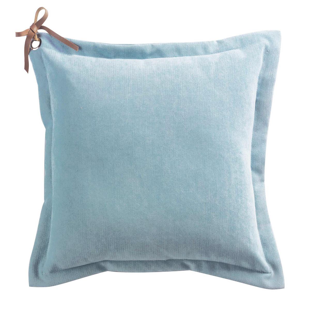Διακοσμητικό Μαξιλάρι (40×40) Veloutine Bleu 1608138