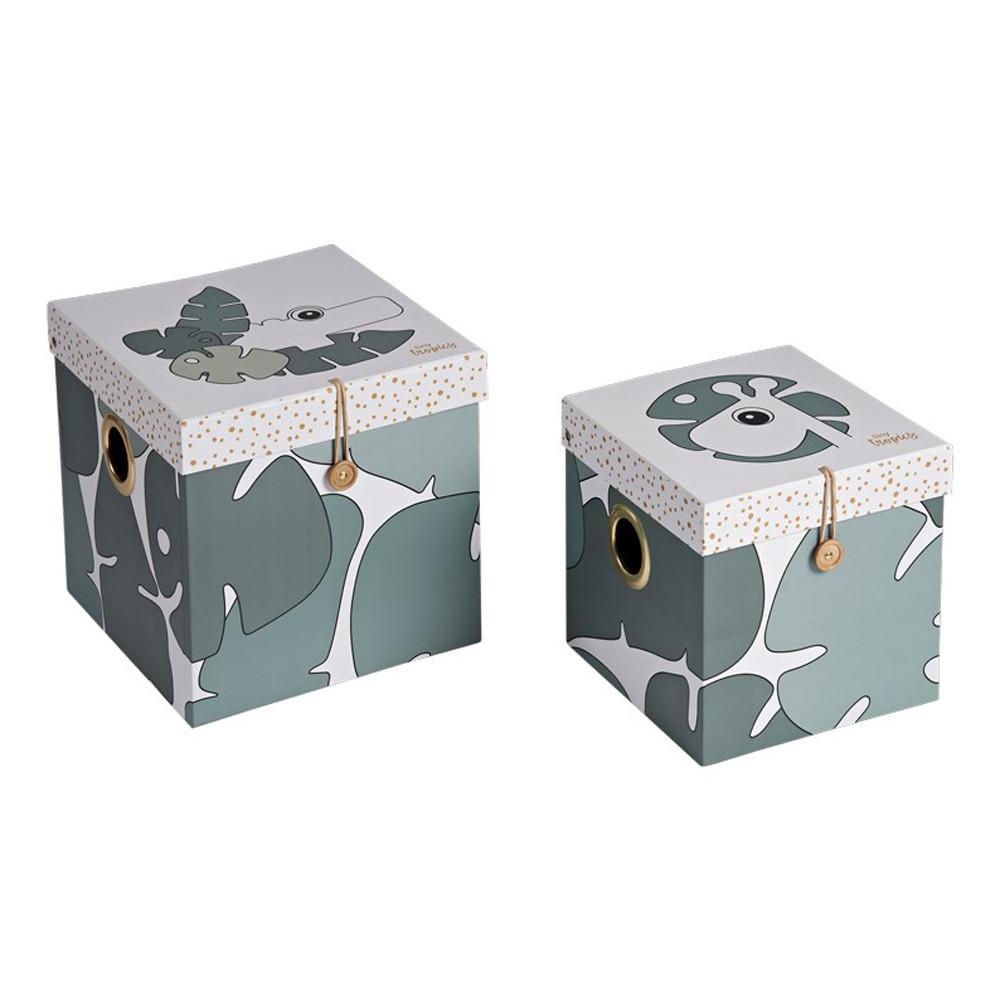 Κουτιά Αποθήκευσης (Σετ 2τμχ) Done By Deer Tiny Tropics Large BR73916