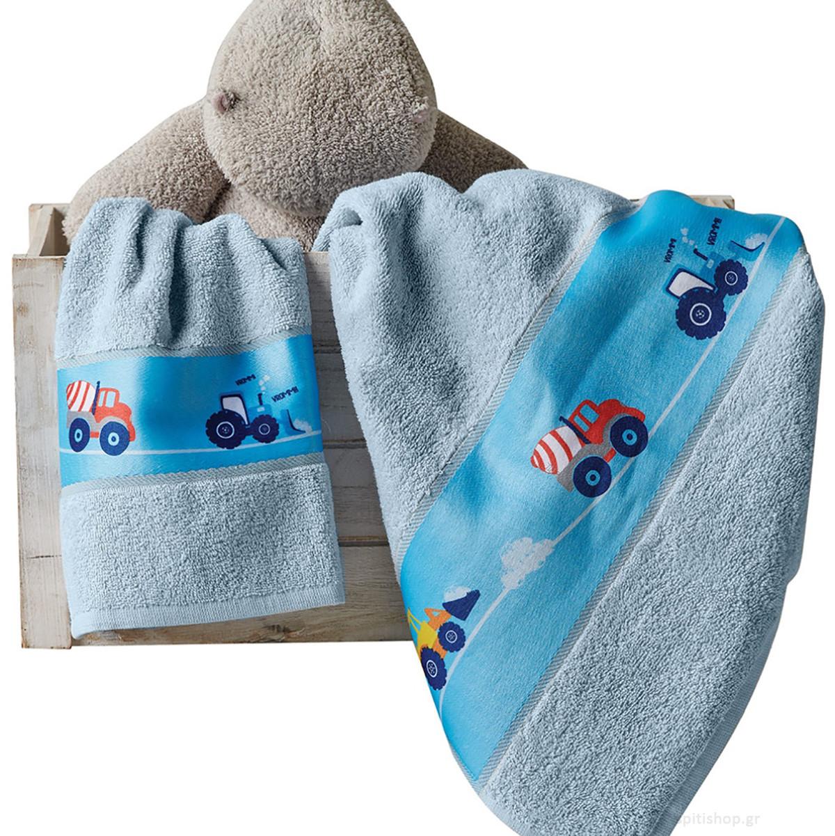 Παιδικές Πετσέτες (Σετ 2τμχ) Kentia Kids Pit
