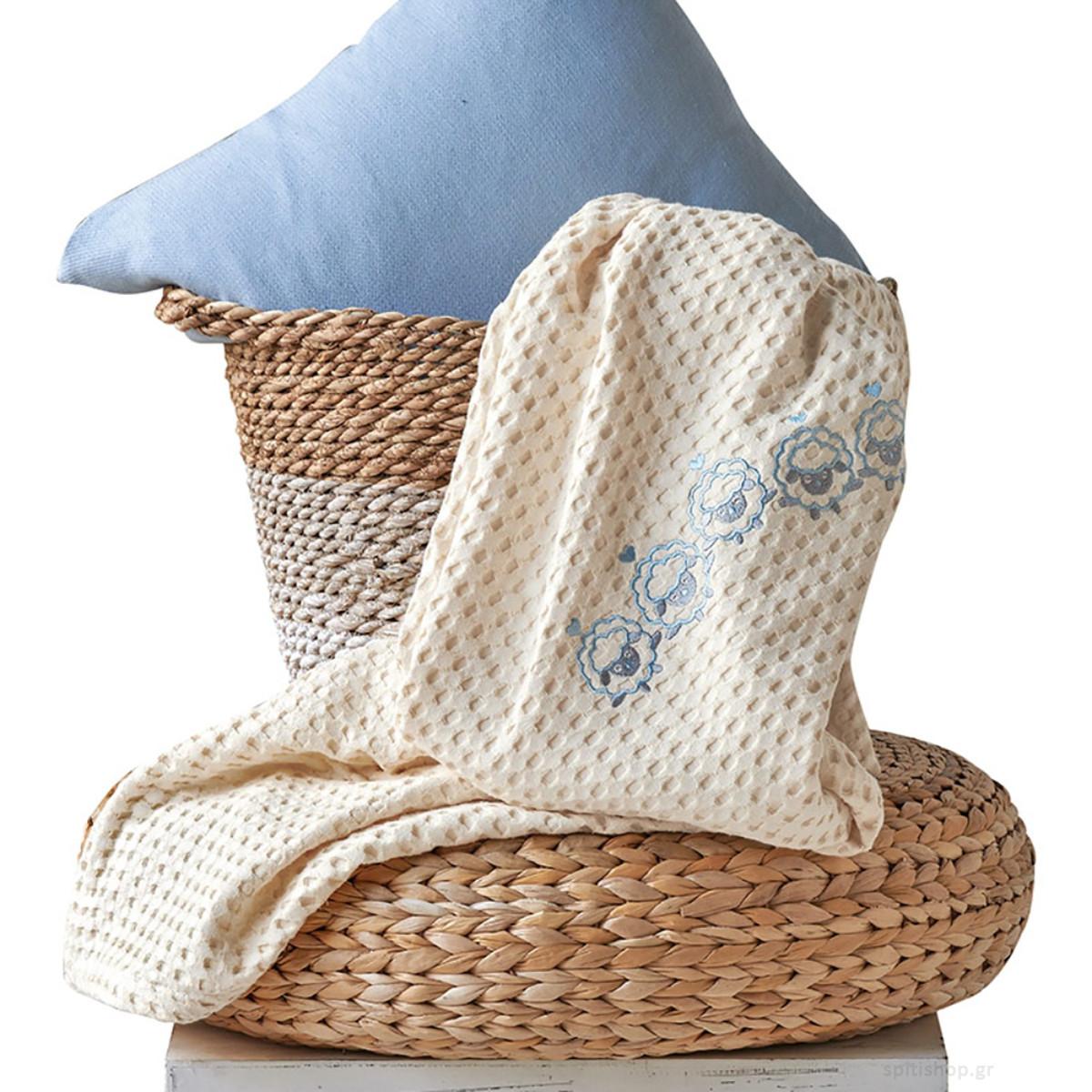 Κουβέρτα Πικέ Αγκαλιάς Kentia Baby Lester home   βρεφικά   κουβέρτες βρεφικές   κουβέρτες καλοκαιρινές