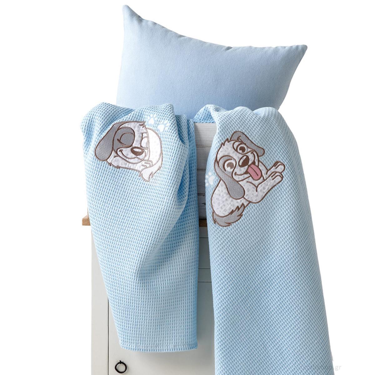 Κουβέρτα Πικέ Κούνιας Kentia Baby Best Dog