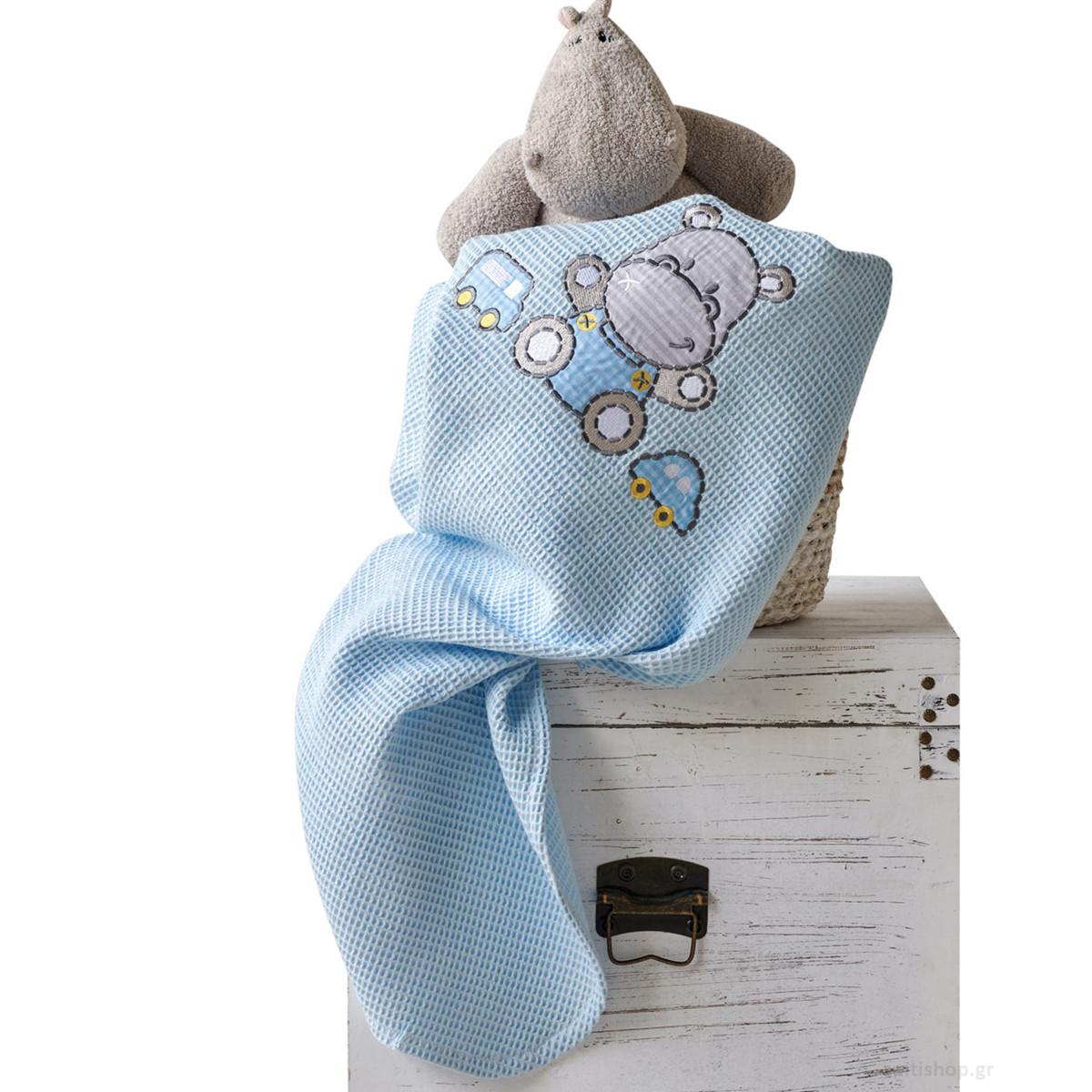 Κουβέρτα Πικέ Κούνιας Kentia Baby Hippo