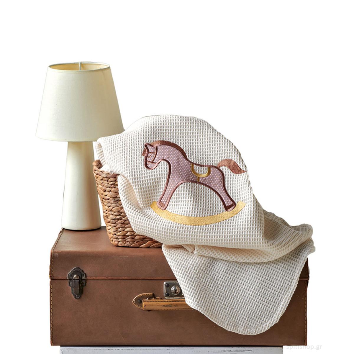 Κουβέρτα Πικέ Κούνιας Kentia Baby Carousel