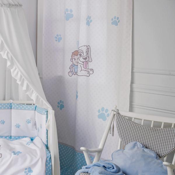 Παιδική Κουρτίνα (140x270) Με Τρέσα+Θηλιές Kentia Baby Best Dog