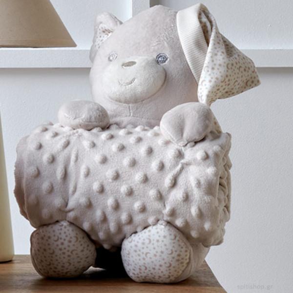 Κουβέρτα Fleece Αγκαλιάς + Αρκουδάκι Kentia Baby Bear 12