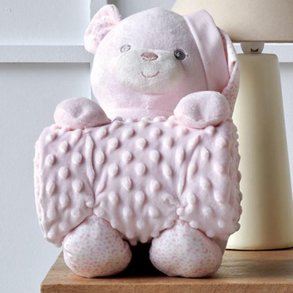 Κουβέρτα Fleece Αγκαλιάς + Αρκουδάκι Kentia Baby Bear 14