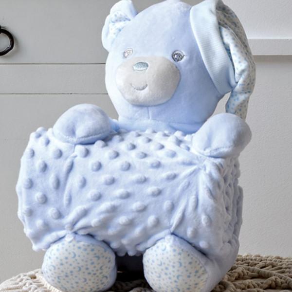 Κουβέρτα Fleece Αγκαλιάς + Λούτρινο Kentia Baby Bear 19