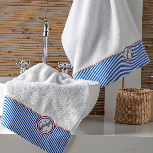 Πετσέτες Μπάνιου (Σετ 3τμχ) Kentia Bath Marina 00