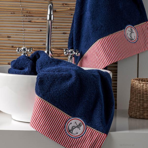 Πετσέτες Μπάνιου (Σετ 3τμχ) Kentia Bath Marina 01