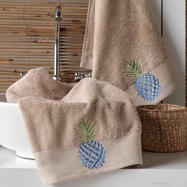 Πετσέτες Μπάνιου (Σετ 3τμχ) Kentia Bath Pineapple 26
