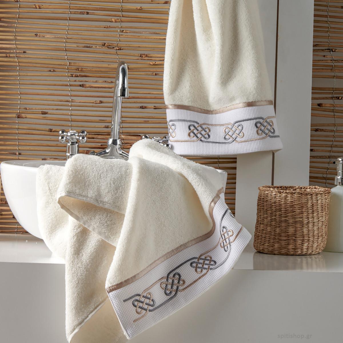 Πετσέτες Μπάνιου (Σετ 3τμχ) Kentia Bath Geo 12