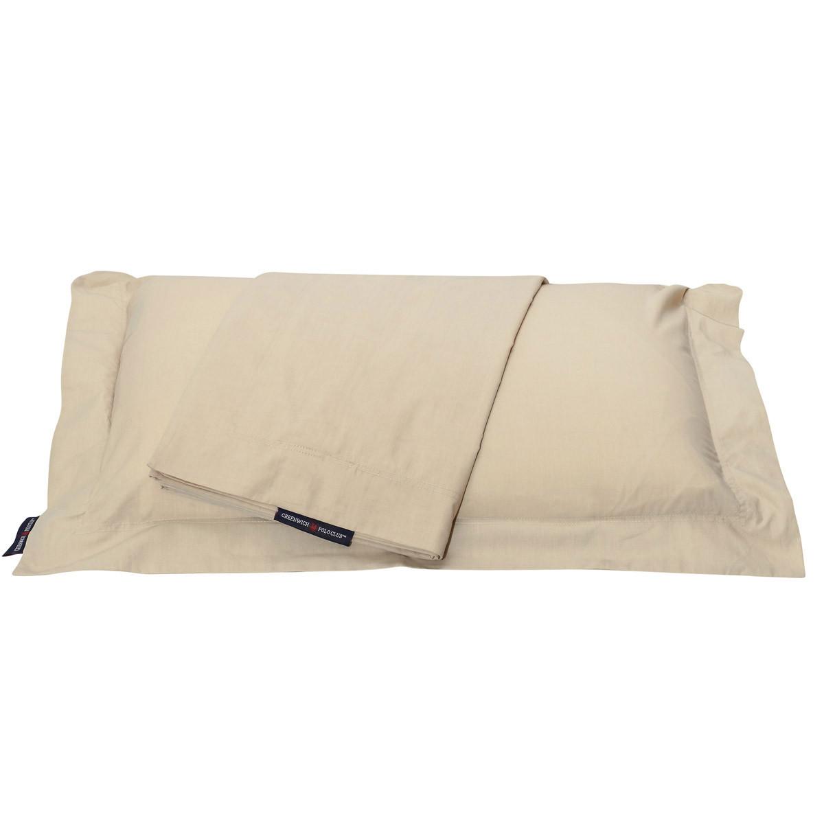 Ζεύγος Μαξιλαροθήκες Polo Club Premium Solid Percale home   κρεβατοκάμαρα   μαξιλάρια   μαξιλαροθήκες