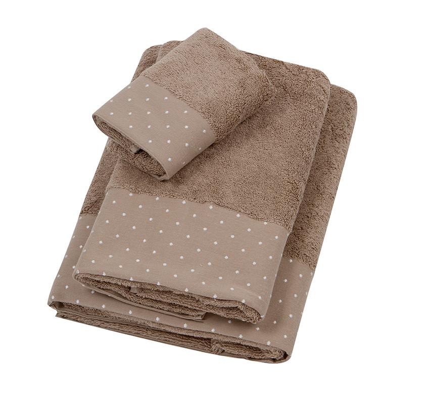 Πετσέτα Προσώπου (50×100) Laura Ashley Polka Border Fr.Grey
