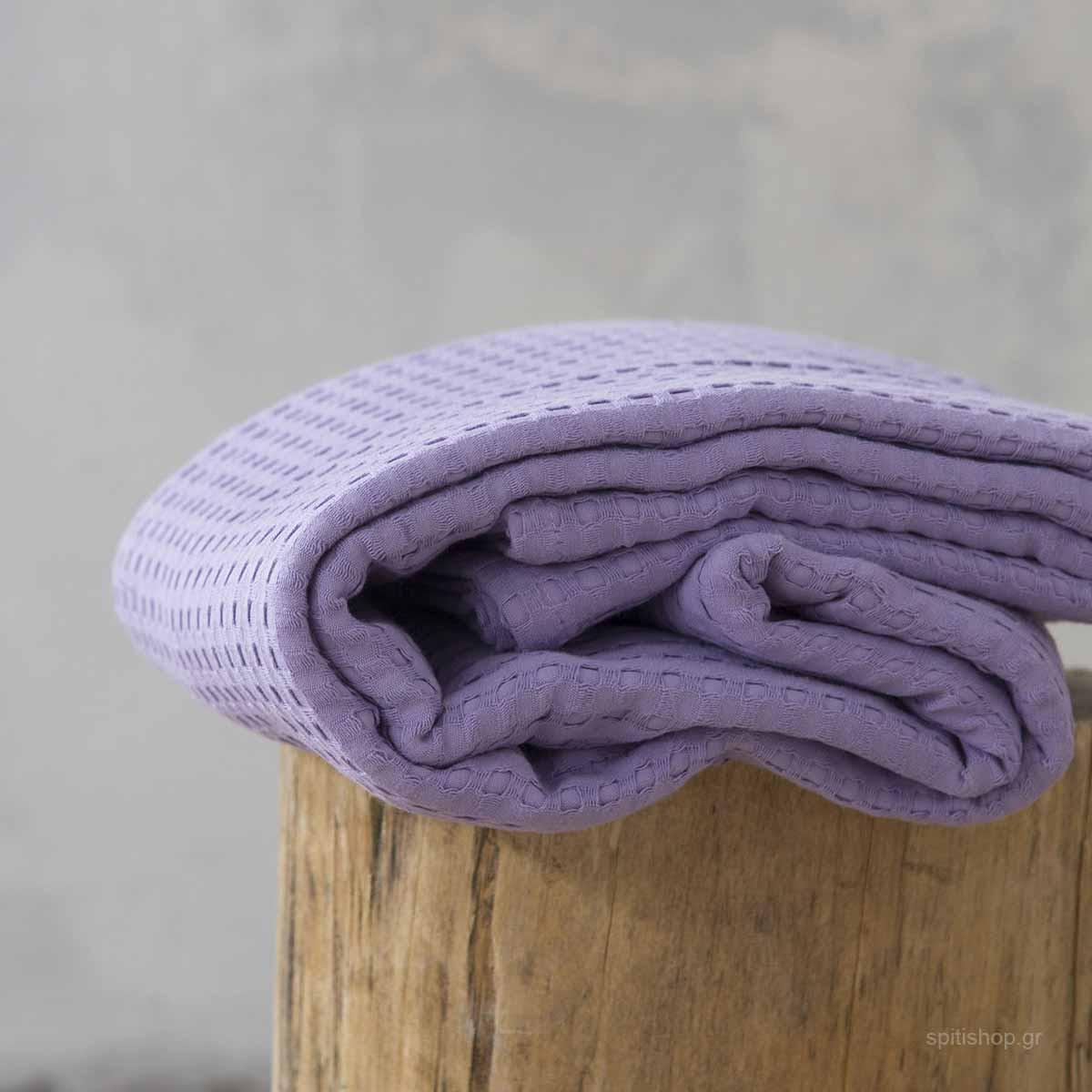 Κουβέρτα Πικέ Μονή Nima Layers Habit Lilac