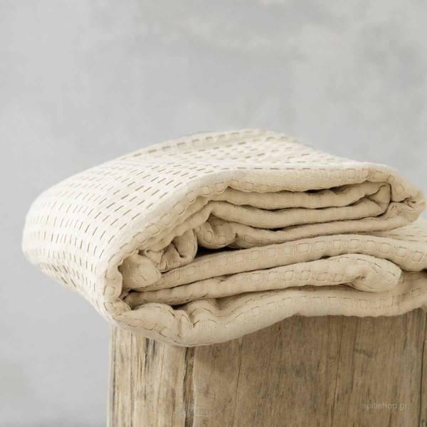 Κουβέρτα Πικέ Υπέρδιπλη Nima Layers Habit Beige