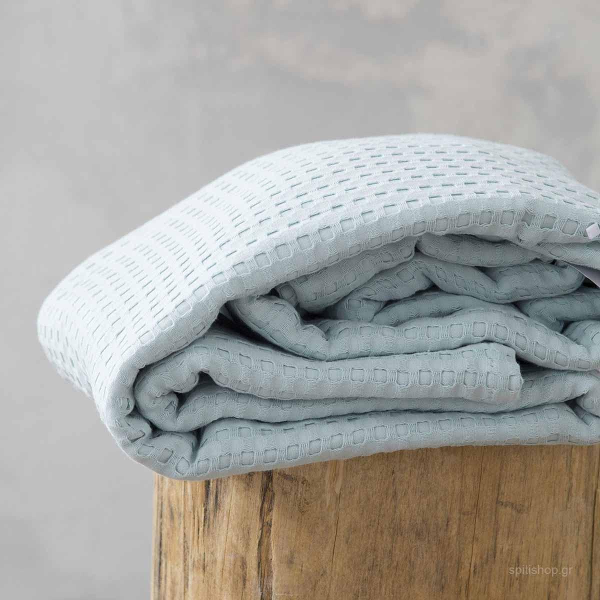 Κουβέρτα Πικέ Υπέρδιπλη Nima Layers Habit Mint