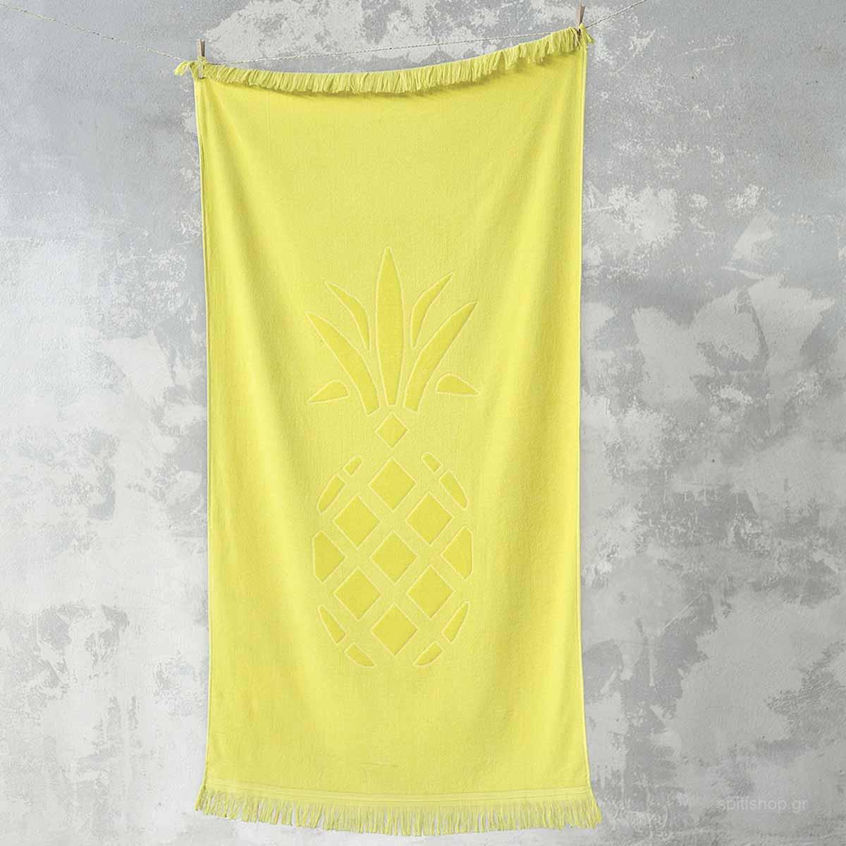 Πετσέτα Θαλάσσης Nima Beach Pineapple Yellow