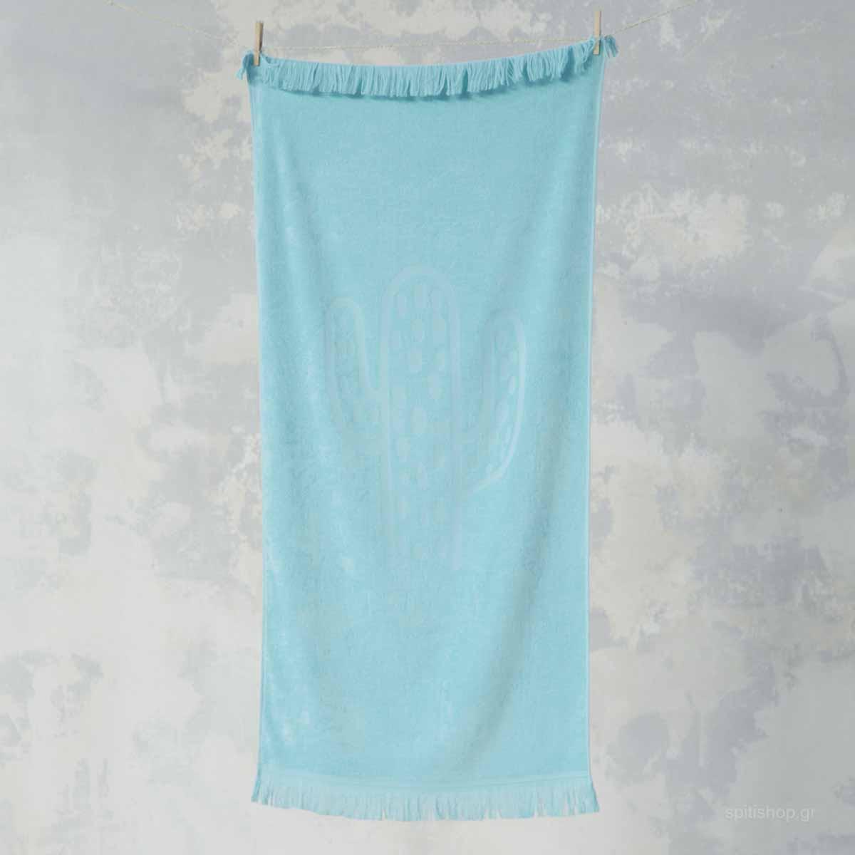 Παιδική Πετσέτα Θαλάσσης Nima Kids Beach Cactil Aqua home   θαλάσσης   πετσέτες θαλάσσης παιδικές