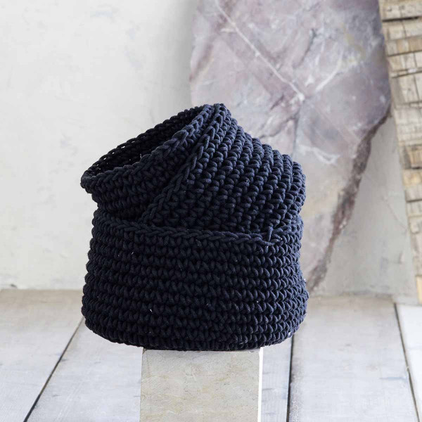 Καλάθι Αποθήκευσης (23x23x14) Nima Deco Paneir Black