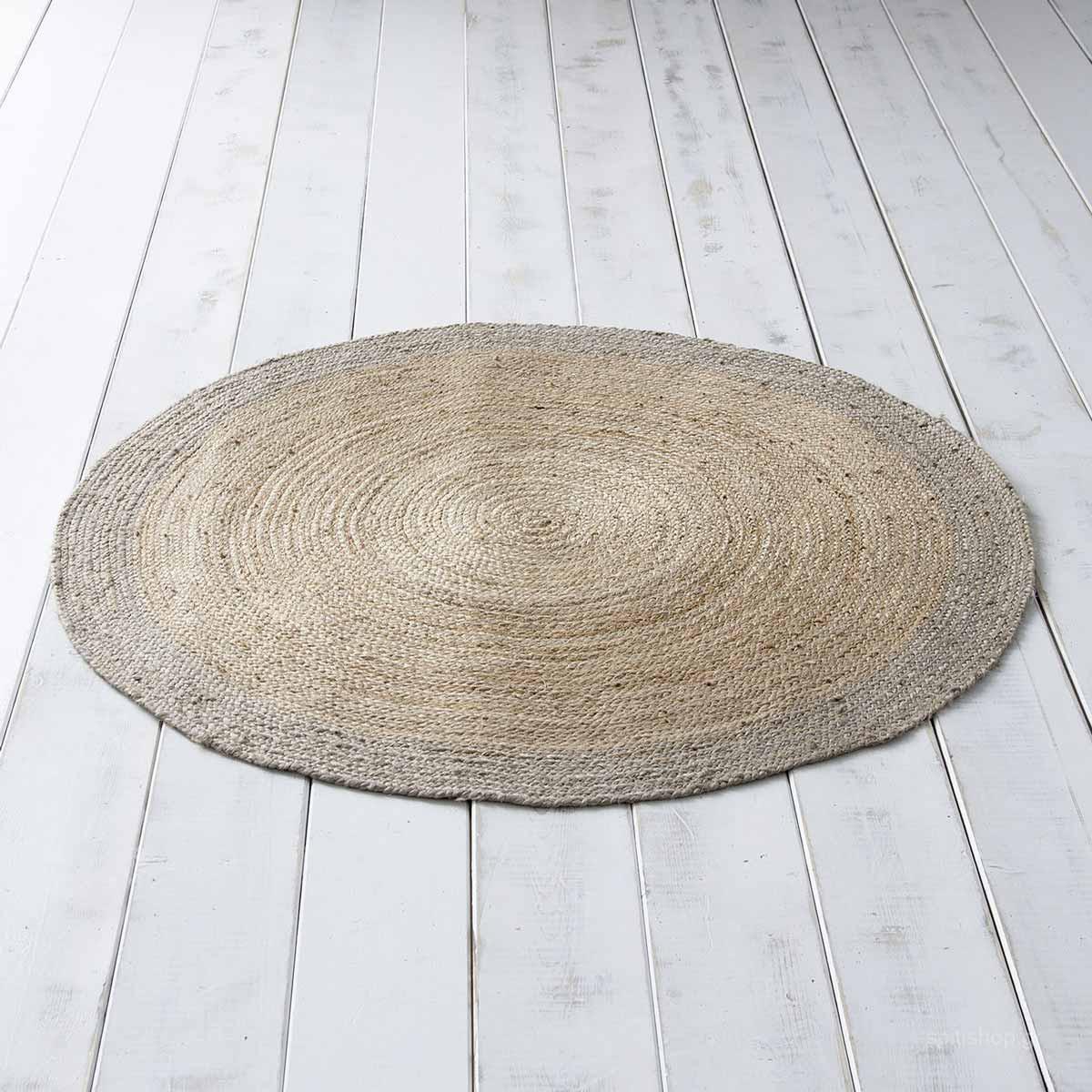 Στρογγυλό Χαλί Καλοκαιρινό (Φ120) Nima Carpets Jogo Grey