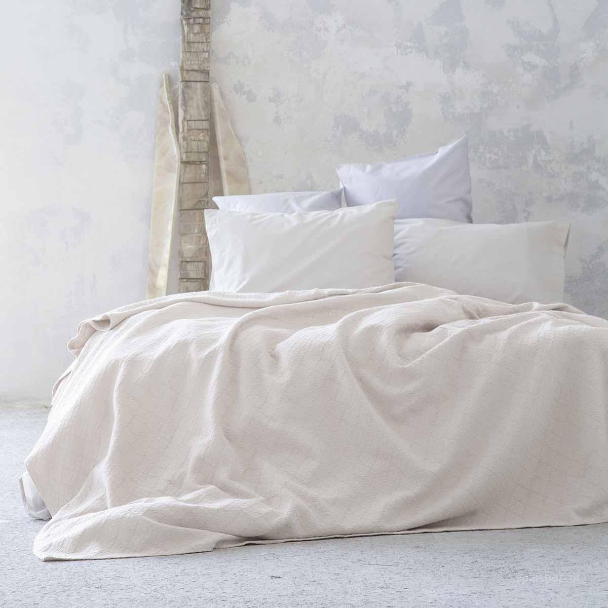Κουβερτόριο Υπέρδιπλο Nima Layers Candace Beige home   κρεβατοκάμαρα   κουβέρτες   κουβέρτες καλοκαιρινές υπέρδιπλες