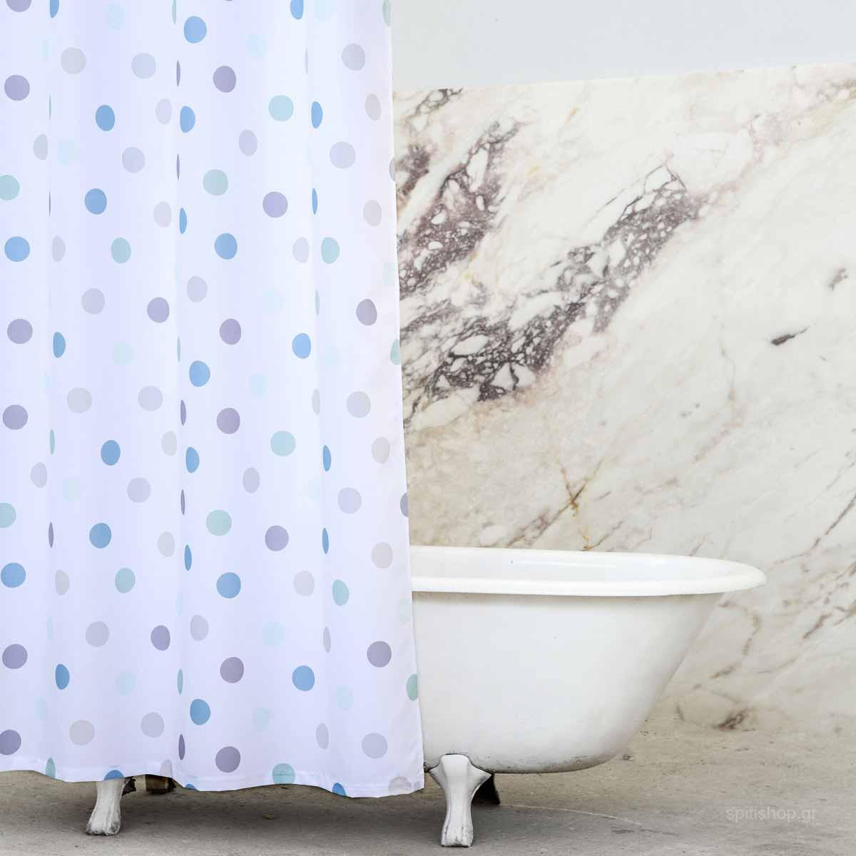 Κουρτίνα Μπάνιου (200×180) Nima Bath Pointille