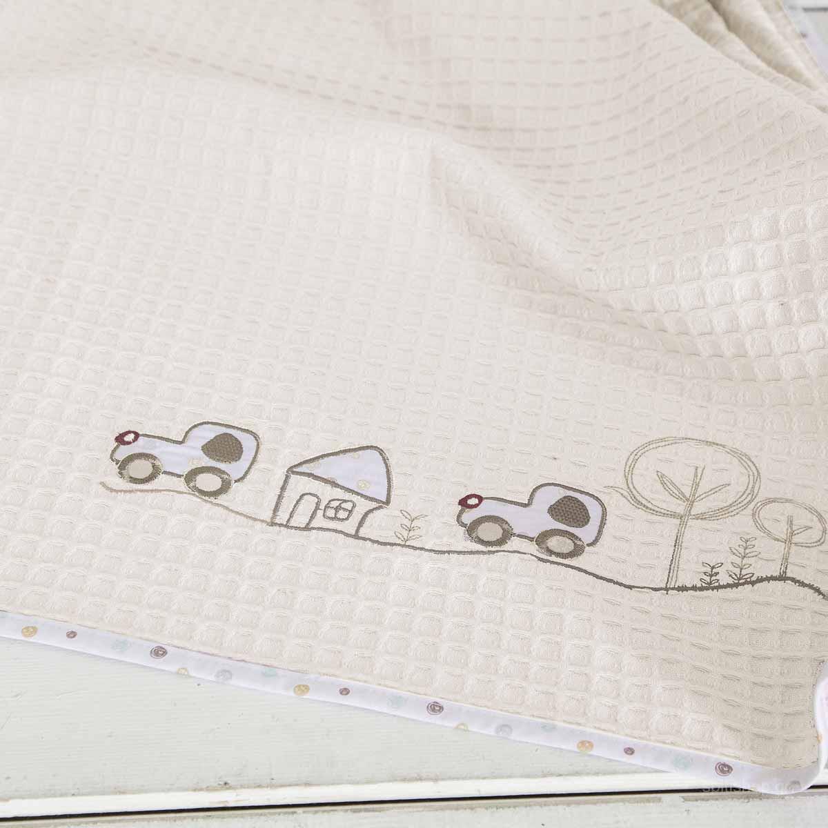a9e92854639 -10% Spiti Shop Κουβέρτα Πικέ Αγκαλιάς Nima Baby Vroom Vroom