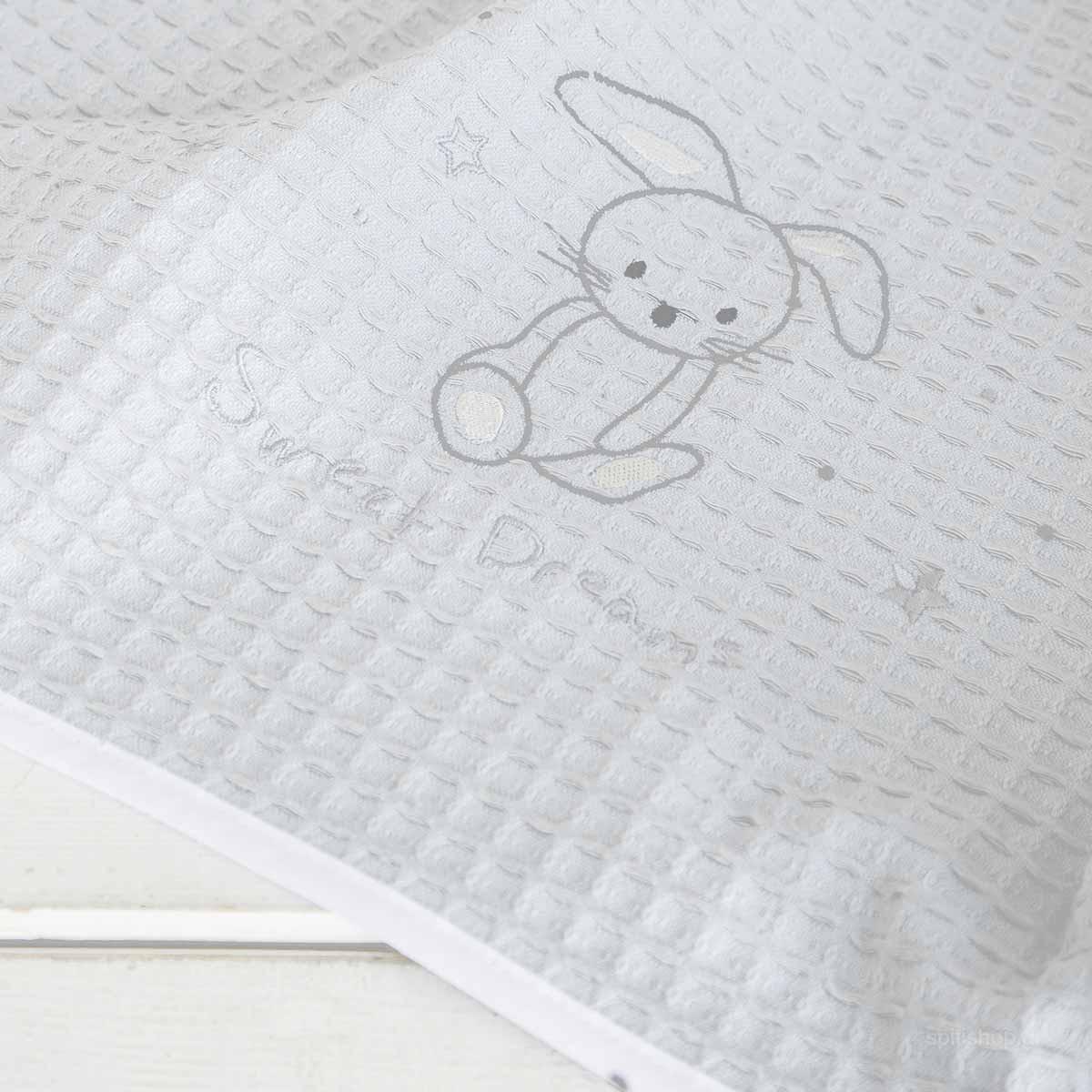 Κουβέρτα Πικέ Αγκαλιάς Nima Baby Baby Bunny home   βρεφικά   κουβέρτες βρεφικές   κουβέρτες καλοκαιρινές