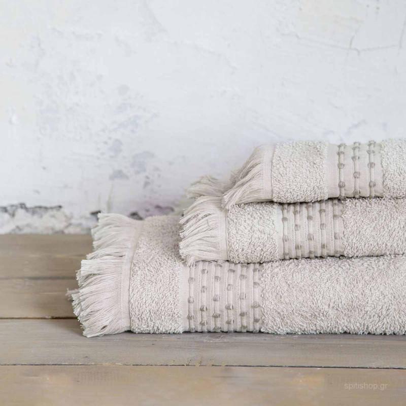Πετσέτα Προσώπου (50x90) Nima Bath Springle Beige