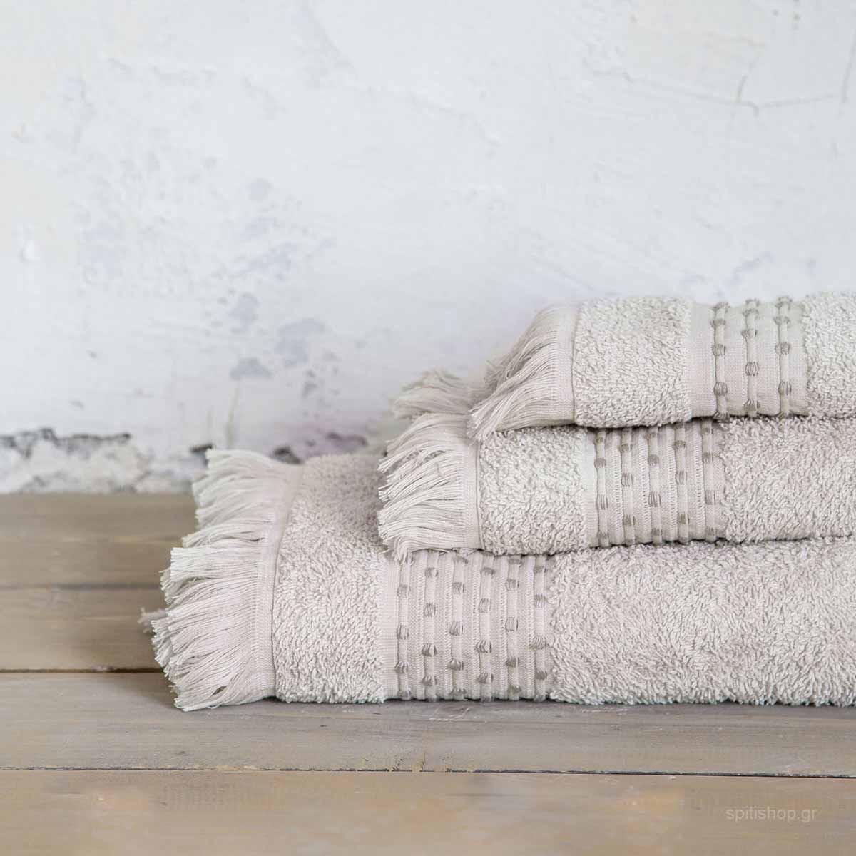 Πετσέτα Σώματος (70×140) Nima Bath Springle Beige