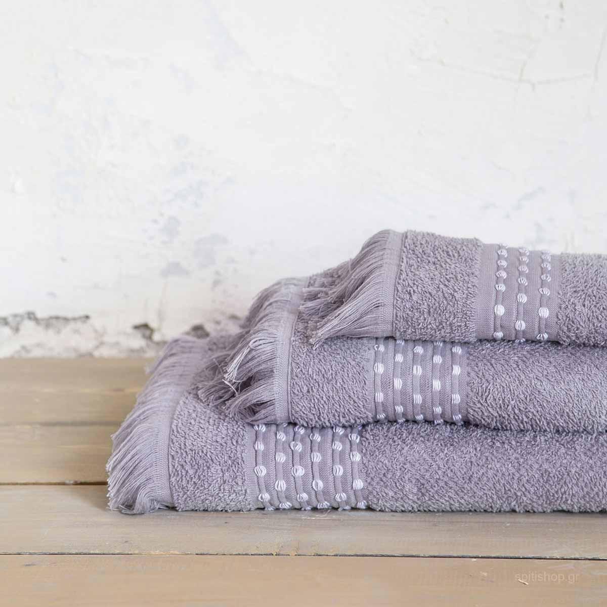 Πετσέτα Χεριών (30×50) Nima Bath Springle Grey