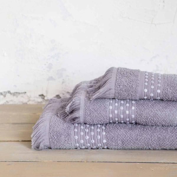 Πετσέτα Προσώπου (50x90) Nima Bath Springle Grey