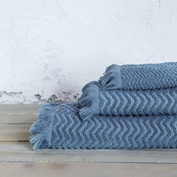 Πετσέτα Προσώπου (50x90) Nima Bath Contour Blue