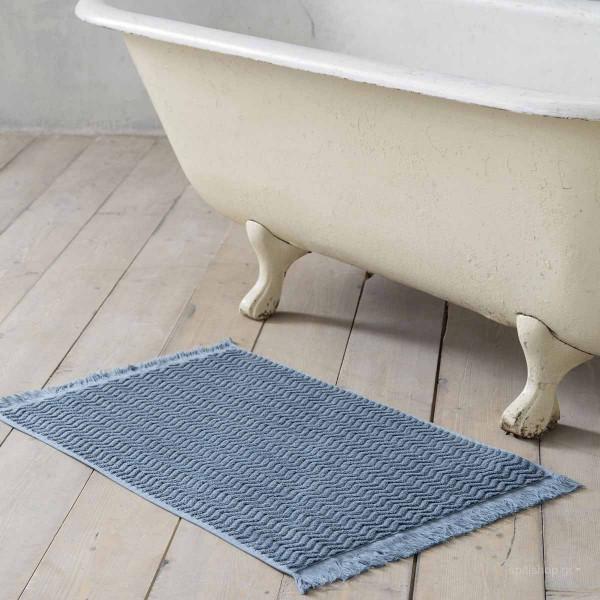 Πετσετέ Πατάκι Μπάνιου (50x80) Nima Bath Contour Blue