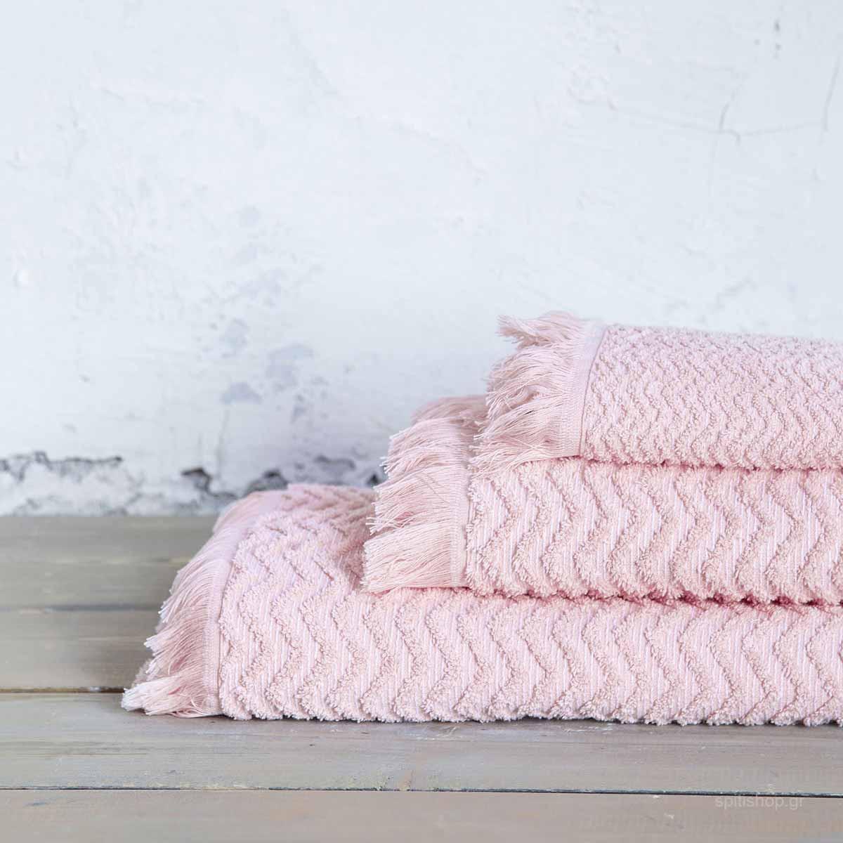 Πετσέτα Χεριών (30×50) Nima Bath Contour Pink