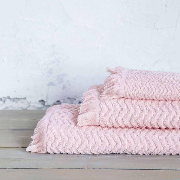 Πετσέτα Προσώπου (50x90) Nima Bath Contour Pink