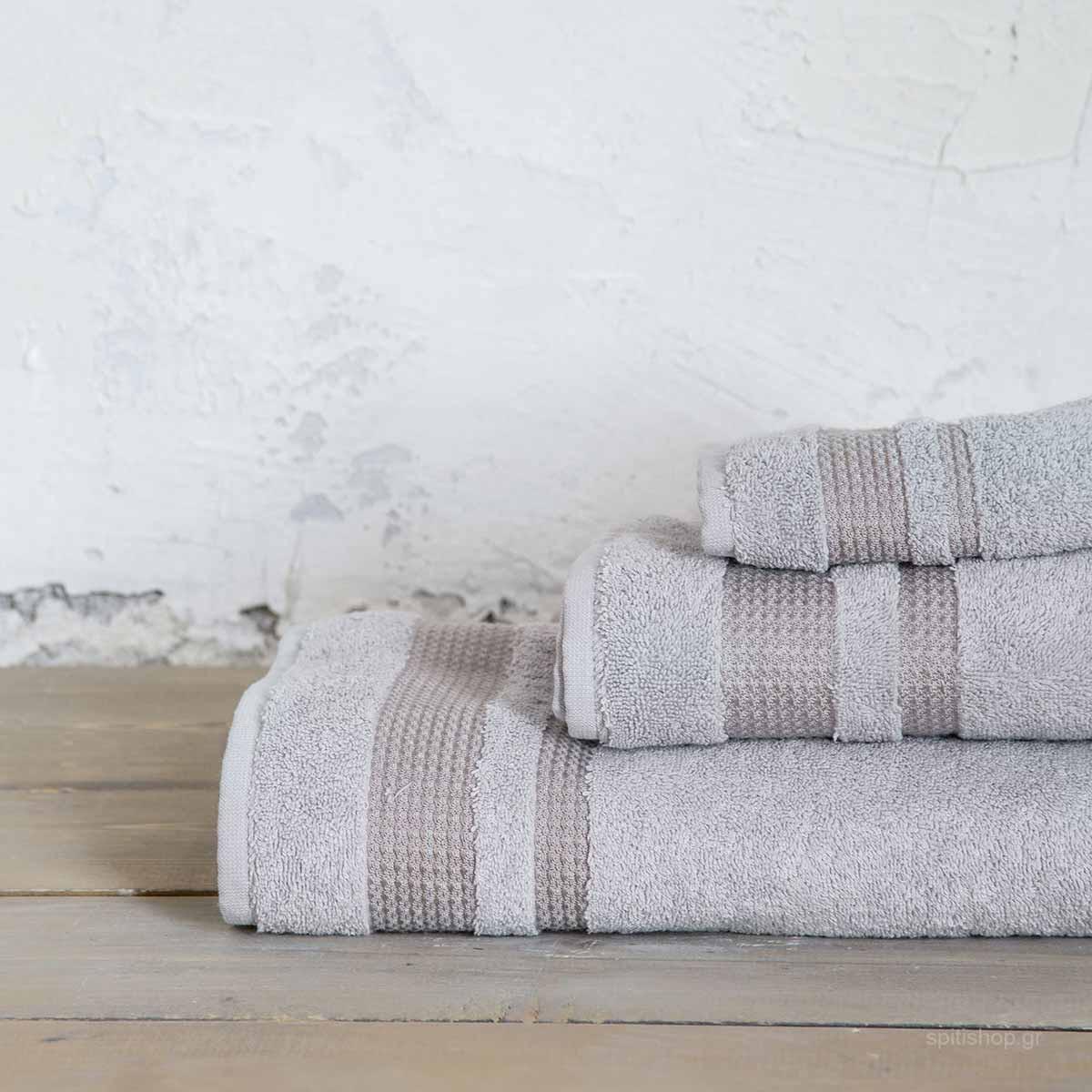 Πετσέτα Προσώπου (50x90) Nima Bath Juniper Light Grey
