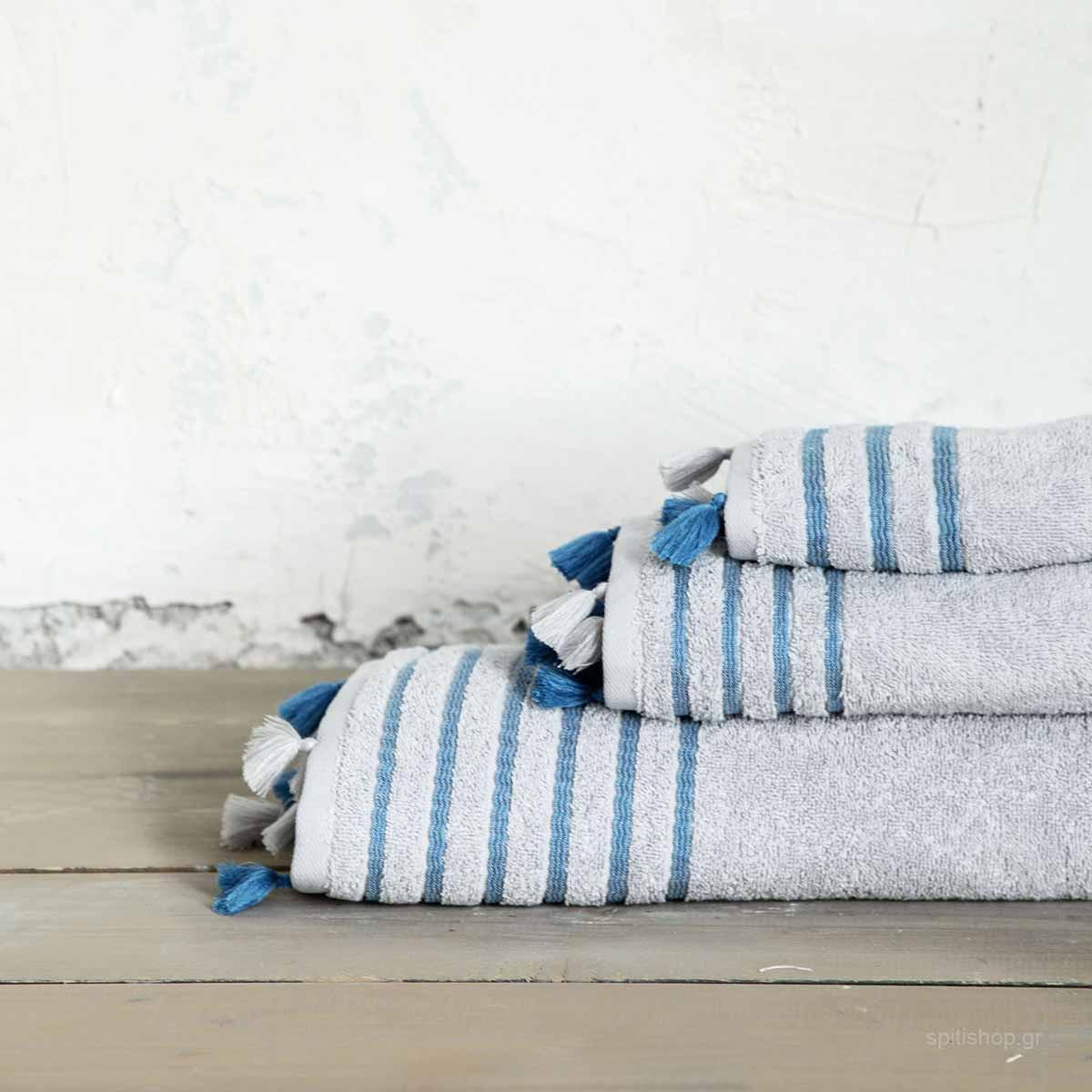45af5b11616 -10% Spiti Shop Πετσέτες Μπάνιου (Σετ 3τμχ) Nima Bath Demure Grey