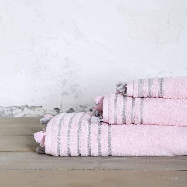 Πετσέτα Προσώπου (50x90) Nima Bath Demure Pink