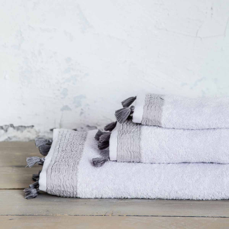Πετσέτα Χεριών (30x50) Nima Bath Assent Light Grey
